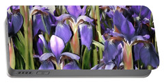 Portable Battery Charger featuring the photograph Iris Fantasy by Benanne Stiens
