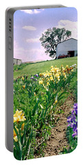 Portable Battery Charger featuring the photograph Iris Farm by Steve Karol