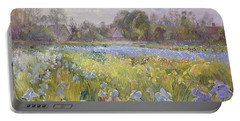 Iris Field In The Evening Light Portable Battery Charger