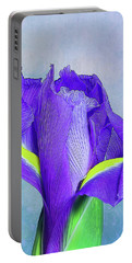 Iris Flower Portable Battery Charger by Tom Mc Nemar