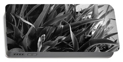 Iris Foliage Bw Portable Battery Charger