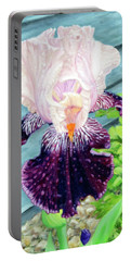 Iris In The Spring Rain Portable Battery Charger