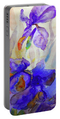Portable Battery Charger featuring the painting Iris by Jasna Dragun