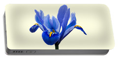 Iris Recticulata Transparent Background Portable Battery Charger