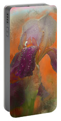 Portable Battery Charger featuring the digital art Iris Resubmit by Jeff Burgess