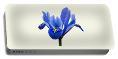 Iris Reticulata, Cream Background Portable Battery Charger