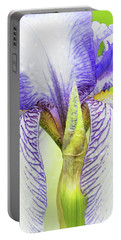 Iris-theodolinda Flower And Bud Portable Battery Charger