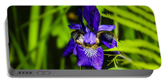 Portable Battery Charger featuring the photograph Iris Versicolor by Mark Myhaver