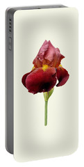 Iris Vitafire Cream Background Portable Battery Charger by Paul Gulliver