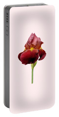 Iris Vitafire Transparent Background Portable Battery Charger by Paul Gulliver