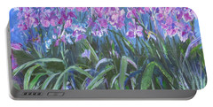 Irises En Mass Portable Battery Charger by Betty Pieper
