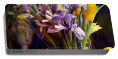 Irises In A Glass Portable Battery Charger