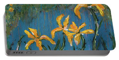 Portable Battery Charger featuring the painting Irises by Jamie Frier