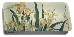 Irises With A Grasshopper Portable Battery Charger