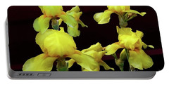 Portable Battery Charger featuring the photograph Irises Yellow by Jasna Dragun