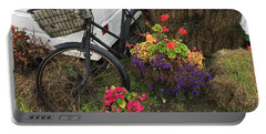 Irish Bike And Flowers Portable Battery Charger
