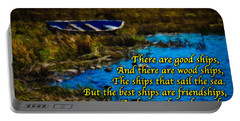 Irish Blessing - There Are Good Ships... Portable Battery Charger