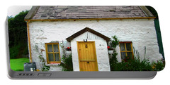 Irish Cottage With A Yellow Door Portable Battery Charger
