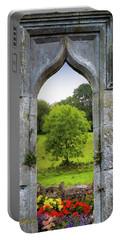 Portable Battery Charger featuring the photograph Irish Summer Through Kildysart Church Ruins by James Truett