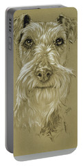 Irish Terrier Portable Battery Charger by Barbara Keith