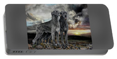Irish Wolfhound Pair - Majestic Irish Sunset Portable Battery Charger