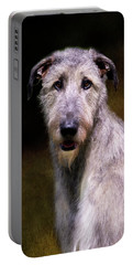 Irish Wolfhound Portrait Portable Battery Charger