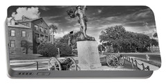 Iron Mke Statue - Parris Island Portable Battery Charger