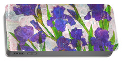 Irresistible Irises Portable Battery Charger