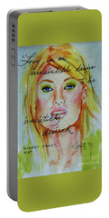 Portable Battery Charger featuring the painting Irresistible by P J Lewis
