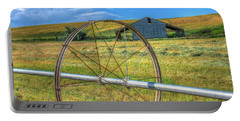 Irrigation Water Wheel Hdr Portable Battery Charger by James Hammond