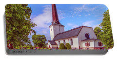 Portable Battery Charger featuring the photograph Irsta Church.  by Leif Sohlman
