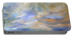 Portable Battery Charger featuring the painting Is Anybody There? by Michael Helfen