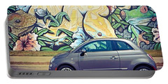 Is It Safe To Drive Mr. #fiat Into The Portable Battery Charger
