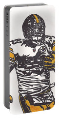Portable Battery Charger featuring the drawing Isaac Redman by Jeremiah Colley