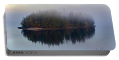 Island In The Autumn Mist Portable Battery Charger