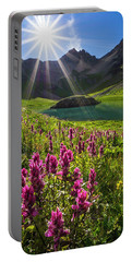 Island Lake Flowers Portable Battery Charger