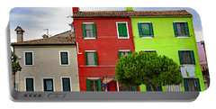 Island Of Burano Tranquility Portable Battery Charger by Richard Rosenshein