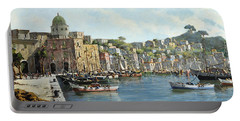 Island Of Procida - Italy- Harbor With Boats Portable Battery Charger