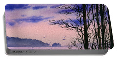Portable Battery Charger featuring the painting Island Point by James Williamson