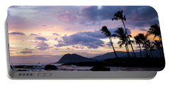 Island Silhouettes  Portable Battery Charger by Heather Applegate