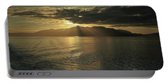 Isle Of Arran At Sunset Portable Battery Charger