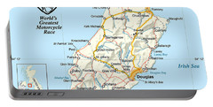 Isle Of Man Map Portable Battery Charger