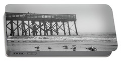 Isle Of Palms Pier And Fog Portable Battery Charger