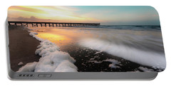 Isle Of Palms Pier Sunrise And Sea Foam Portable Battery Charger