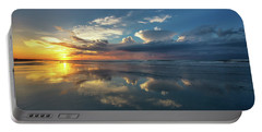 Isle Of Palms Sunrise Reflection Portable Battery Charger