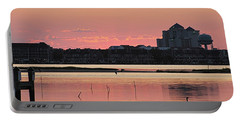 Isle Of Wight Dawn Portable Battery Charger by Robert Banach
