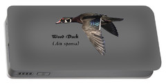 Isolated Wood Duck 2017-1 Portable Battery Charger by Thomas Young