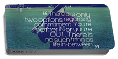 Portable Battery Charger featuring the painting Ispirational Sports Quotes  Pat Riley by Pat Riley