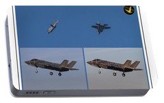Portable Battery Charger featuring the digital art Israeli Air Force First Two F-35i Adir by Amos Dor