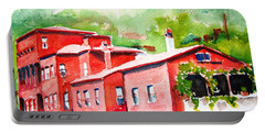 Portable Battery Charger featuring the painting Istanbul Hekimbasi Salih Efendi 2 by Carlin Blahnik CarlinArtWatercolor